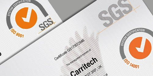 Carritech's ISO 9001 & ISO 14001 Certification Renewed