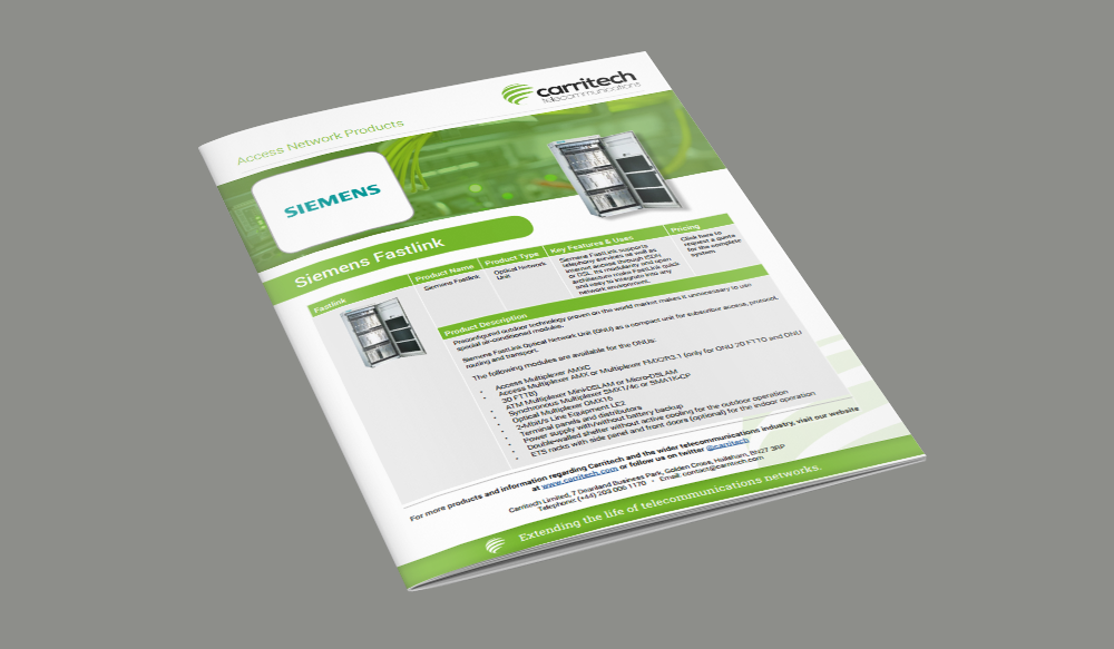 Siemens Fastlink | Access Network | Products | Carritech