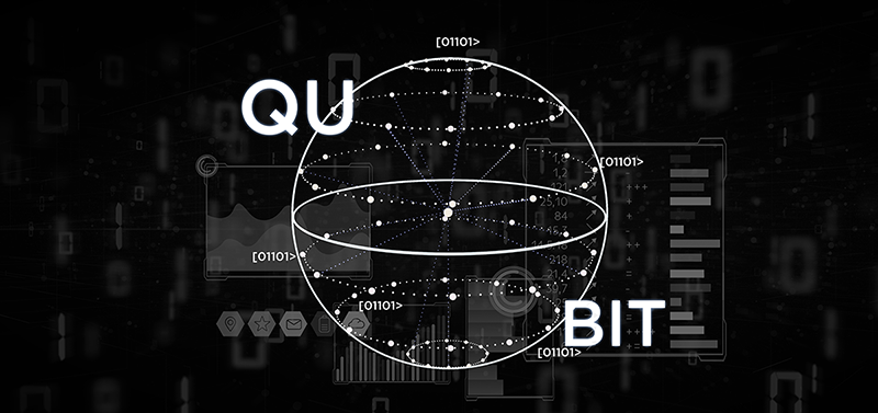 Graphic of a qubit to answer what is quantum computing